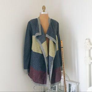CAbi color block cardigan